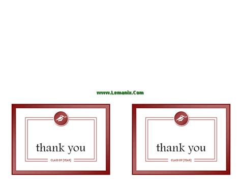 microsoft office thank you card template publisher templates graduation thank you cards for