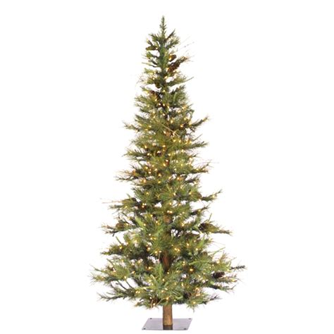 4 or 5 ftrustic christmas trees 4 ft twig mixed pine cone alpine tree wood trunk unlit