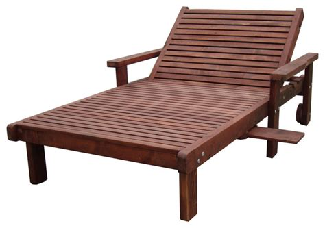 rustic outdoor chaise lounge sun lounger wide deck 30x36x72 with arms wheels