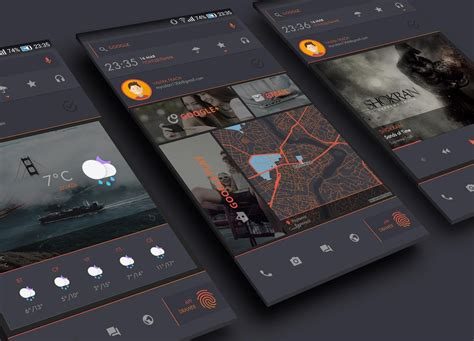themes in nova launcher darkdessert theme for klwp android apps on google play