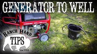 how to run a submersible well pump of a portable generator