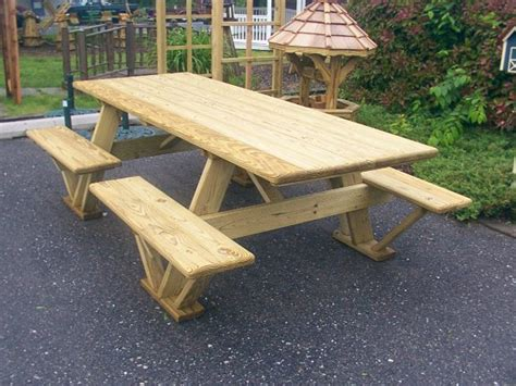 how to make picnic bench diy wood outdoor table google search picnic tables pinterest outdoor tables diy wood