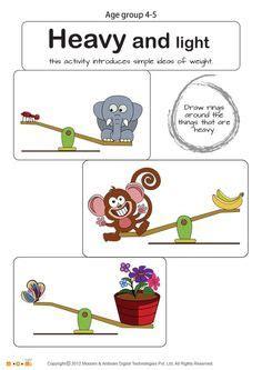 weight worksheets non standard measurement kindergarten