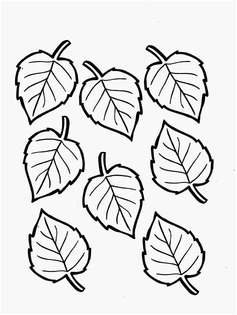 leaf coloring page leaf coloring page for environmental education printable