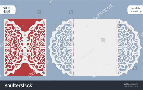 paper cards cut notebook template laser cut wedding invitation card template stock vector