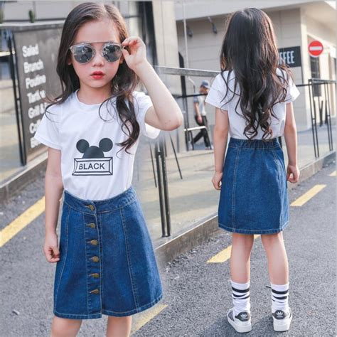 5 Sweet And Shorts Styles by Denim Skirts Sweet Korea Style Children Clothes