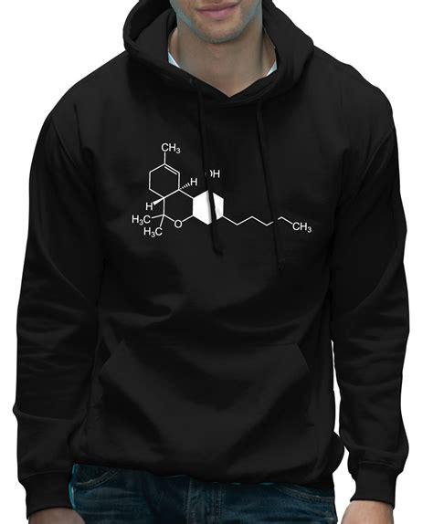 Hoodie 420 Time thc cannabis chemical symbol science geeky hoodie