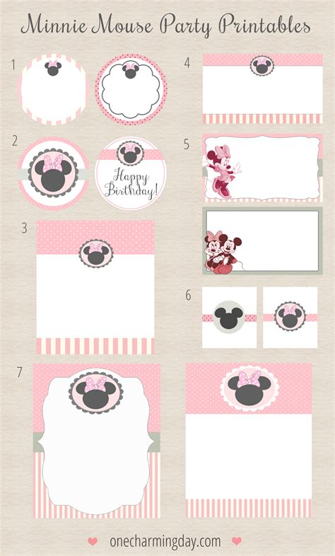 printable minnie mouse envelope free minnie mouse party printables one charming day