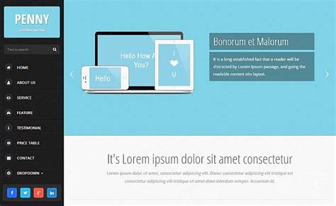 penny responsive html5 template creative beacon
