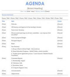 agenda template board meeting agenda template for excel pdf and word