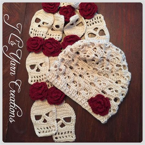 Topshops Skull Scarf Slouch Bag by Crocheted Skull Slouchy Hat And Scarf Set By Jlsyarncreations