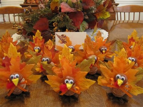 Thanksgiving Handmade Decorations - handmade 10 turkey placecard holders thanksgiving home