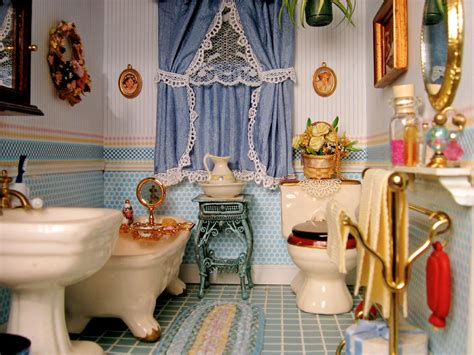 miniature dollhouse bathrooms blukatkraft victorian dollhouse bedroom and bathroom 1