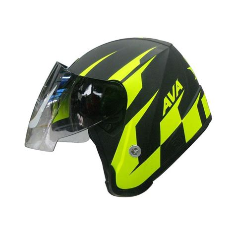 Helm Kyt Hijau jual seri motogp hitam hijau stabilo helm half harga kualitas terjamin