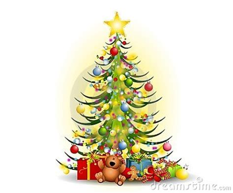 christmas tree and gifts clipart 14