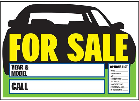 Printable Car For Sale Sign Template Portablegasgrillweber Com For Sale Template