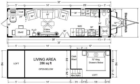 8 16 tiny house plan 8 x 16 tiny house floor plans