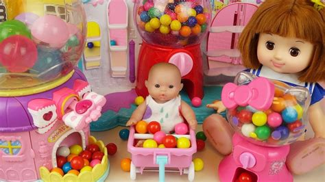 doll mart dispenser and baby doll eggs mart toys play