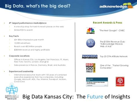 whats the big deal big data kansas city the future of insights keynote