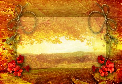 Autumn Leaf Frame Backgrounds For Powerpoint Nature Ppt Templates Autumn Powerpoint Background