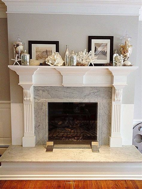 my friend susan s summer mantel with found beach shells