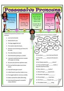 possessive pronouns 2 worksheet free esl printable