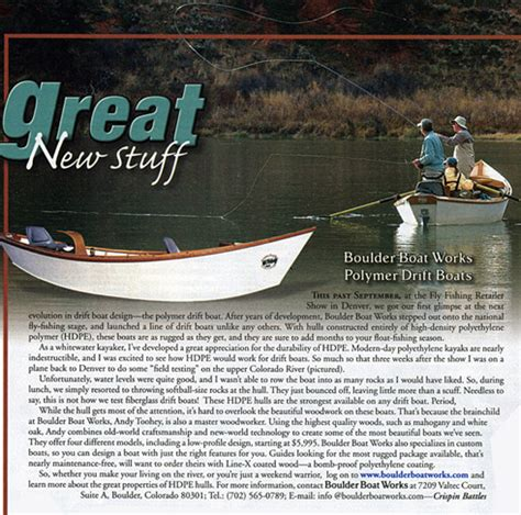 boulder boat works hdpe drift fishing boats also - Boulder Drift Boats Prices