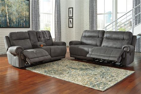 austere power reclining sofa ashley signature design austere gray 3840147 2 seat