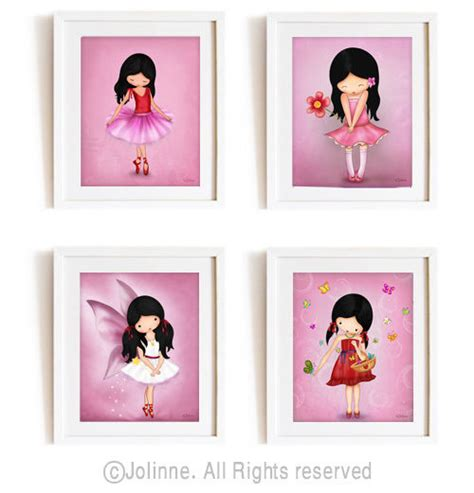 kids prints for bedrooms girls room decor wall art kids bedroom art set of 4