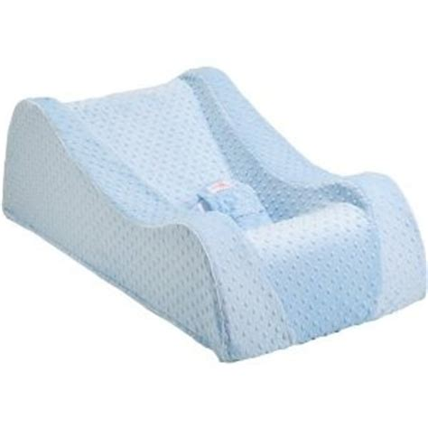 Crib Wedge Cushion by Nap Nanny Chill Accessory Cover Minky Blue Baby Recliner Soft Plush Sleep Aid