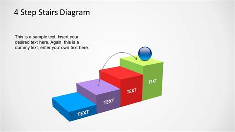 4 step circular growth diagram for powerpoint slidemodel 4 step stairs diagram template for powerpoint slidemodel