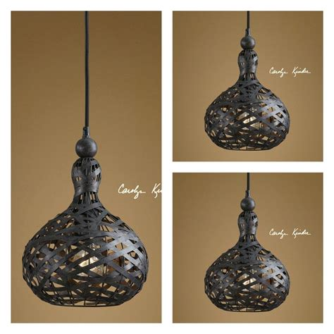 Set 3 Pendant Black 13 Quot Metal Kitchen Island Light Ceiling Rustic Pendant Lighting For Kitchen