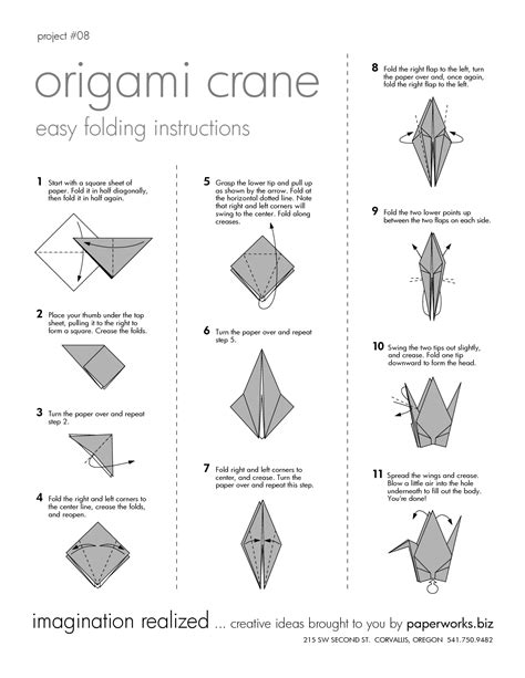 Origami Crane Printable - diy origami crane the agora