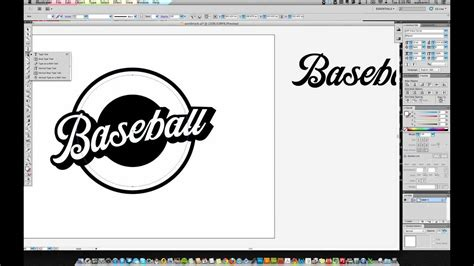 illustrator jersey tutorial creating a simple baseball logo in illustrator part 1