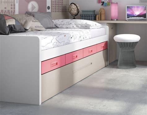 camas compactas  cama nido compacta  cama nido  cuatro cajones bajos