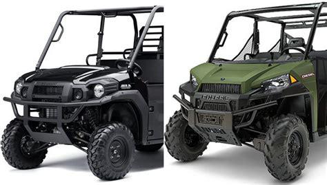 Kawasaki Polaris by 2017 Kawasaki Mule Pro Dxt Vs Polaris Ranger Crew Diesel