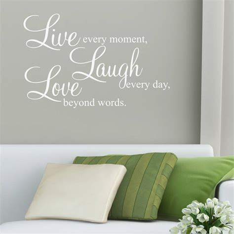 live laugh stickers for wall live laugh wall stickers quotes by parkins