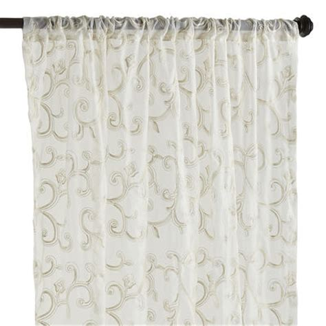 sheer curtains clearance finery sheer curtain ivory pier 1 imports