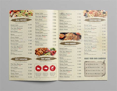 cafe menu design template free download restaurant menu design templates free download