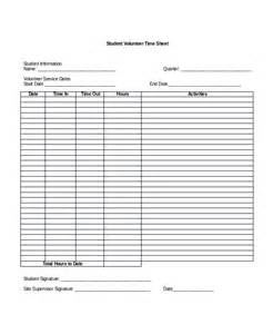 Volunteer Time Sheet Template by Volunteer Time Sheet Form Pictures To Pin On