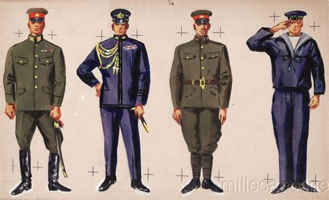 Joger Army Navy 1 wwii original sketch army uniforms japanese soldiers ebay