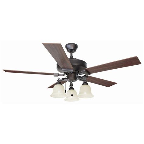 design house ceiling fans design house ironwood 52 in brushed bronze ceiling fan