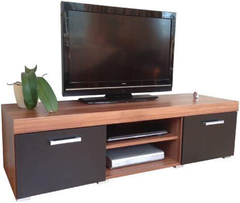 Black Tv Cabinets With Doors Black Walnut Sydney Large 2 Door Tv Cabinet 140cm Unit Alfreda S Vincent