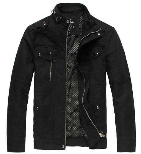 Zip Jacket With Collar mens black lightweight jacket jacket to