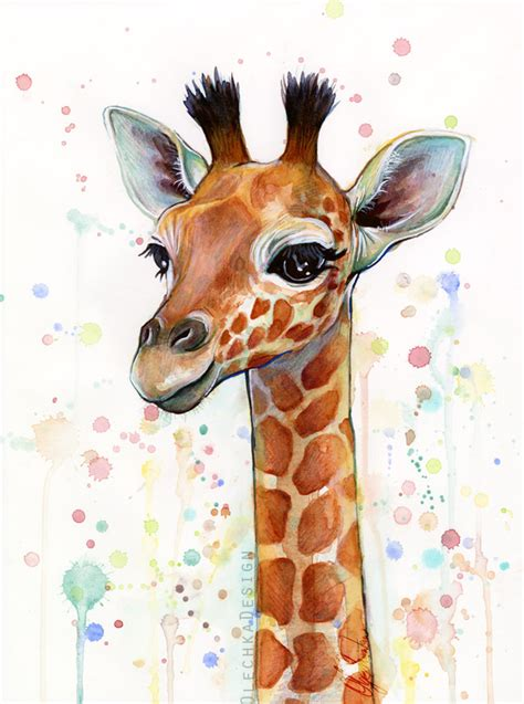 free painting for babies baby giragge watercolor painting animal nursery