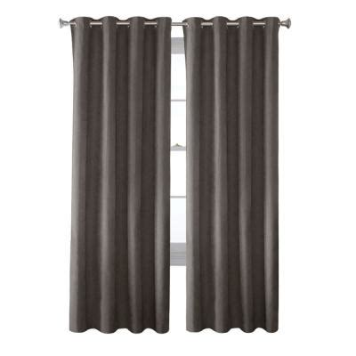 Grey Faux Suede Curtains Solaris Grey Faux Suede Grommet Curtain 1 Panel 1627811 The Home Depot