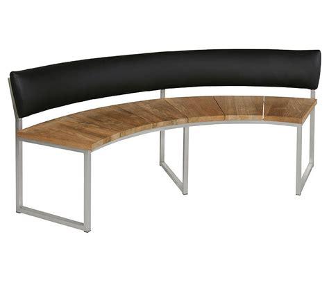 Halbrunde Sitzbank Leder by Zebra Bank 7248 Onyx 1 4 Rund 171cm Edelstahl Recycled