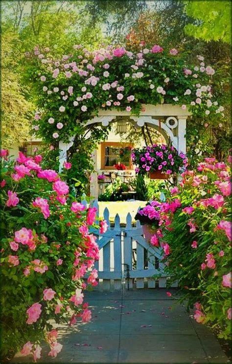 pretty garden flowers pretty garden entrance flowers gardening