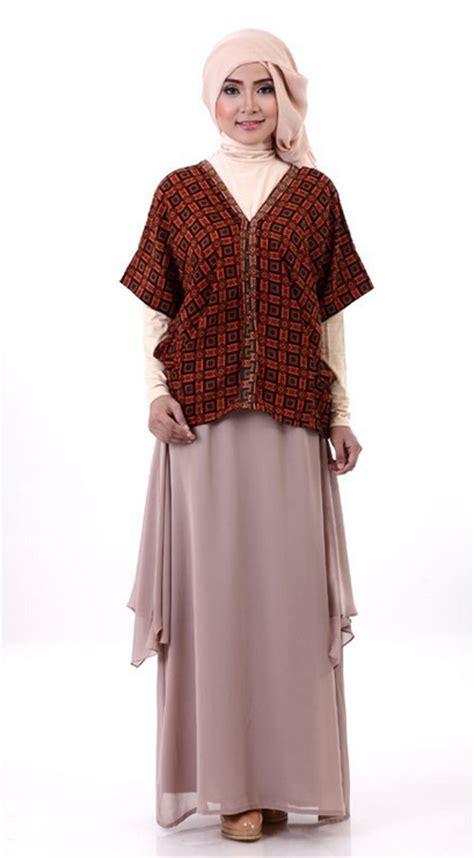 Busana Muslim Batik aneka contoh model baju batik muslim design gambar terbaru