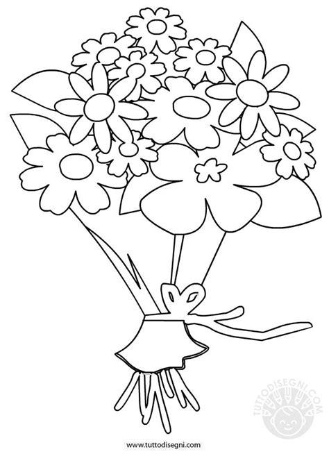 disegni di mazzi di fiori mazzo di fiori disegno da colorare tuttodisegni
